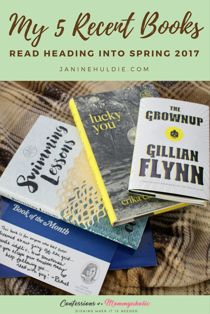 My 5 Recent Books Read March 2017