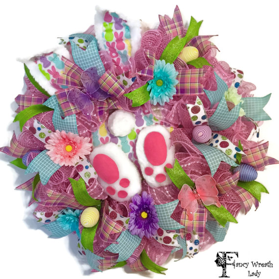 Peeps Easter Bunny Wreath
