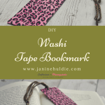 Washi Tape Bookmark for Book Lovers