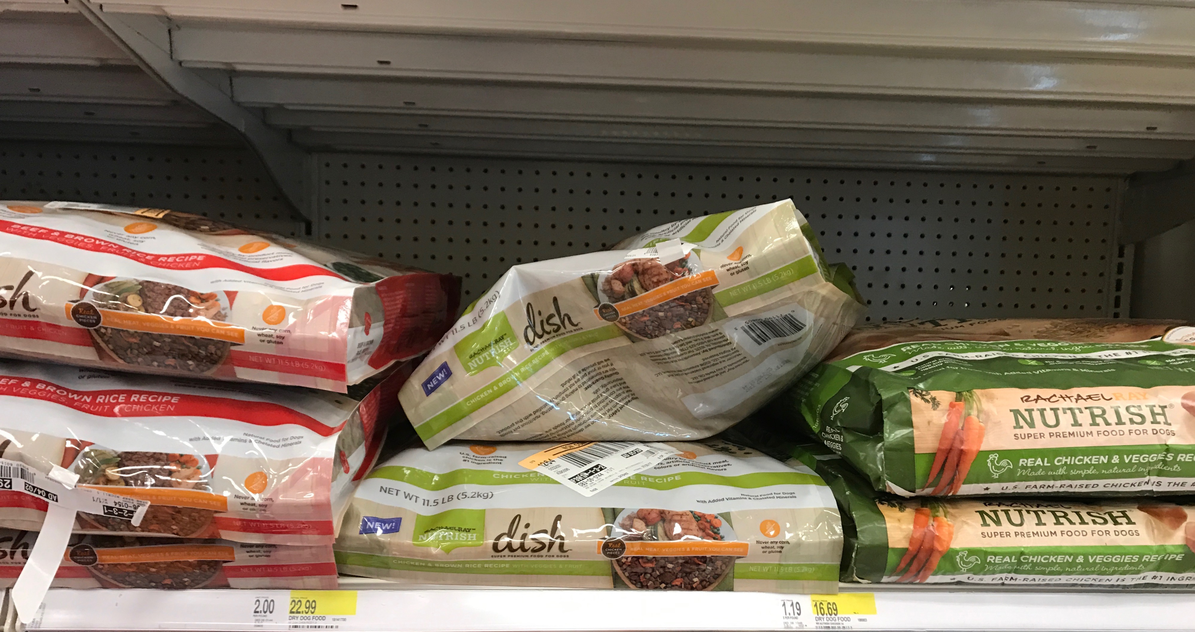 Rachel Ray Nutrish Dog Food on Shelf at Target
