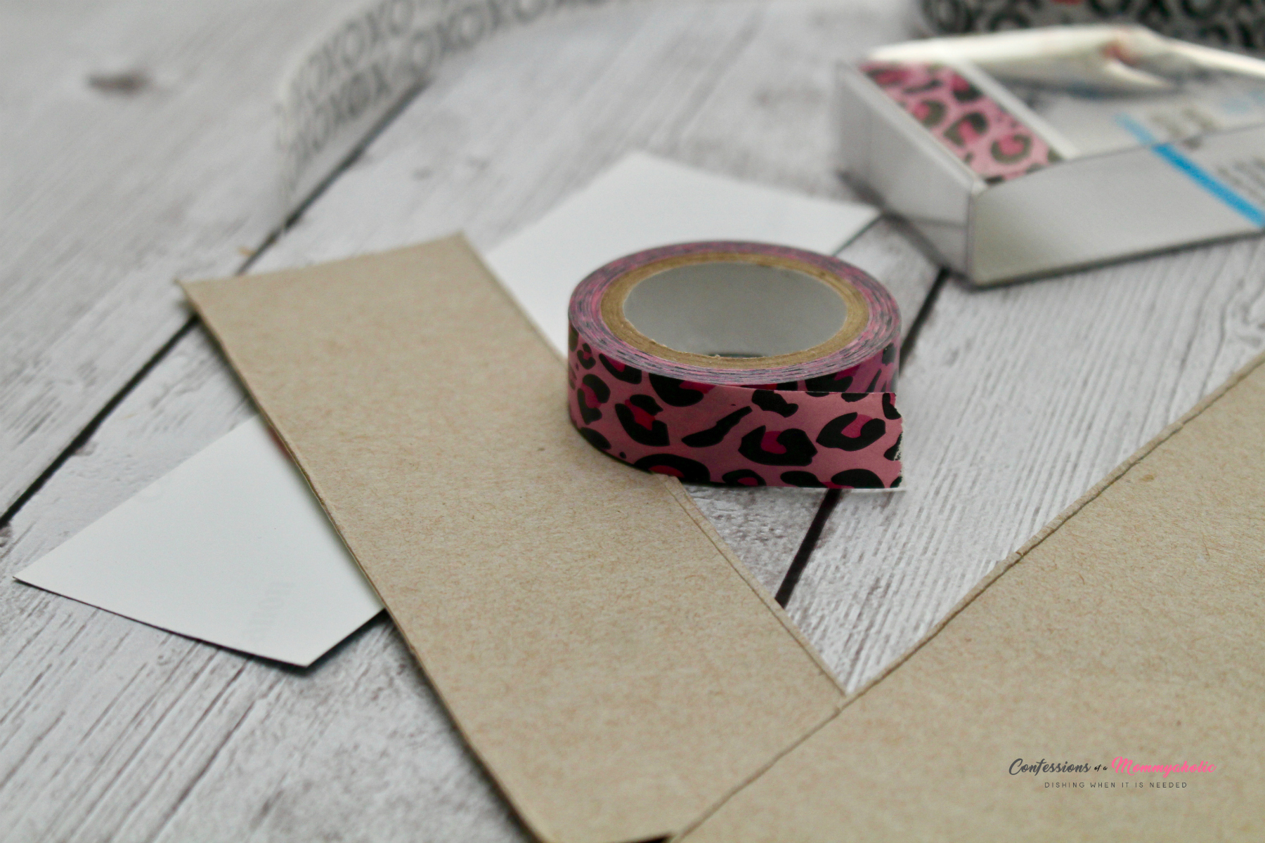 Supplies for DIY Washi Tape Bookmark