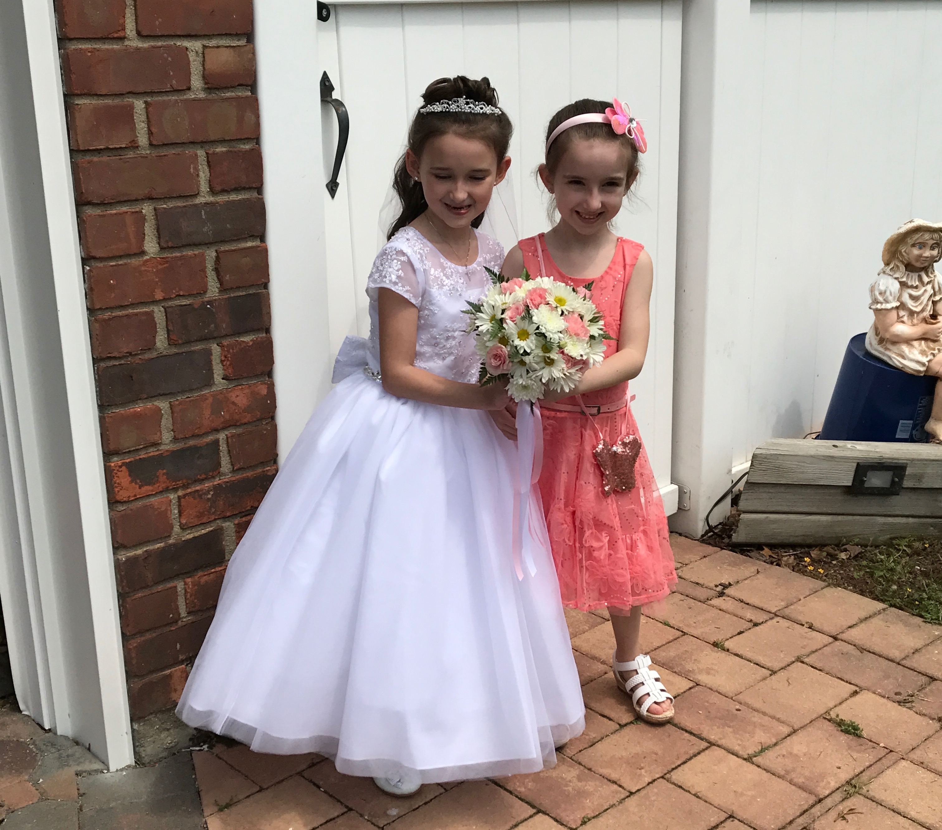 Emma's Communion - Emma and Lily