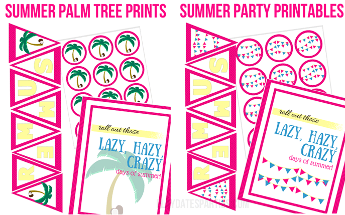 Roll Out Summer Party Printables