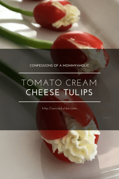 Tomato Cream Cheese Tulips