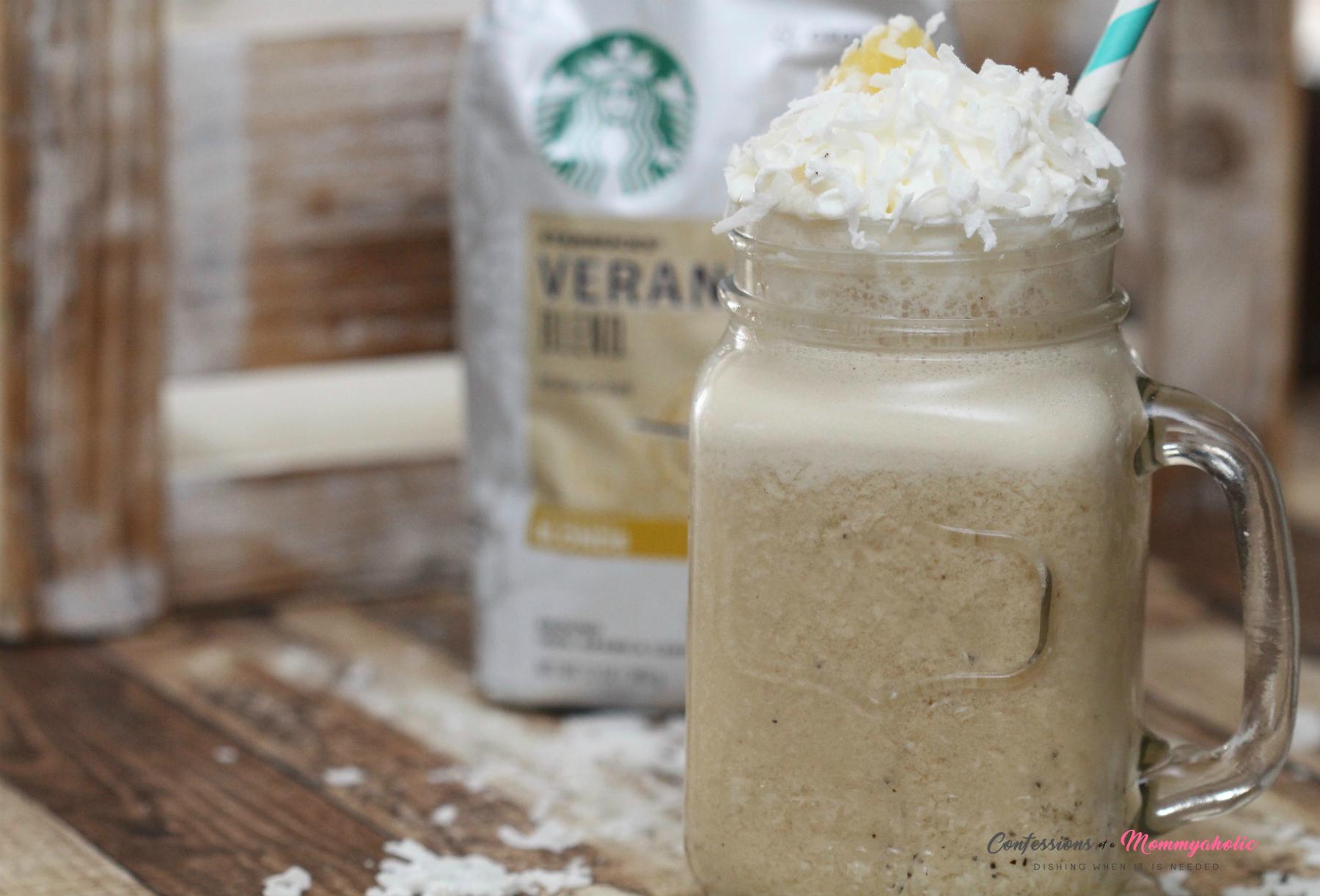 Pina Colada Iced Coffee Starbucks Veranda Blend 2