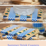 DIY Washi Tape Summer Drink Coasters