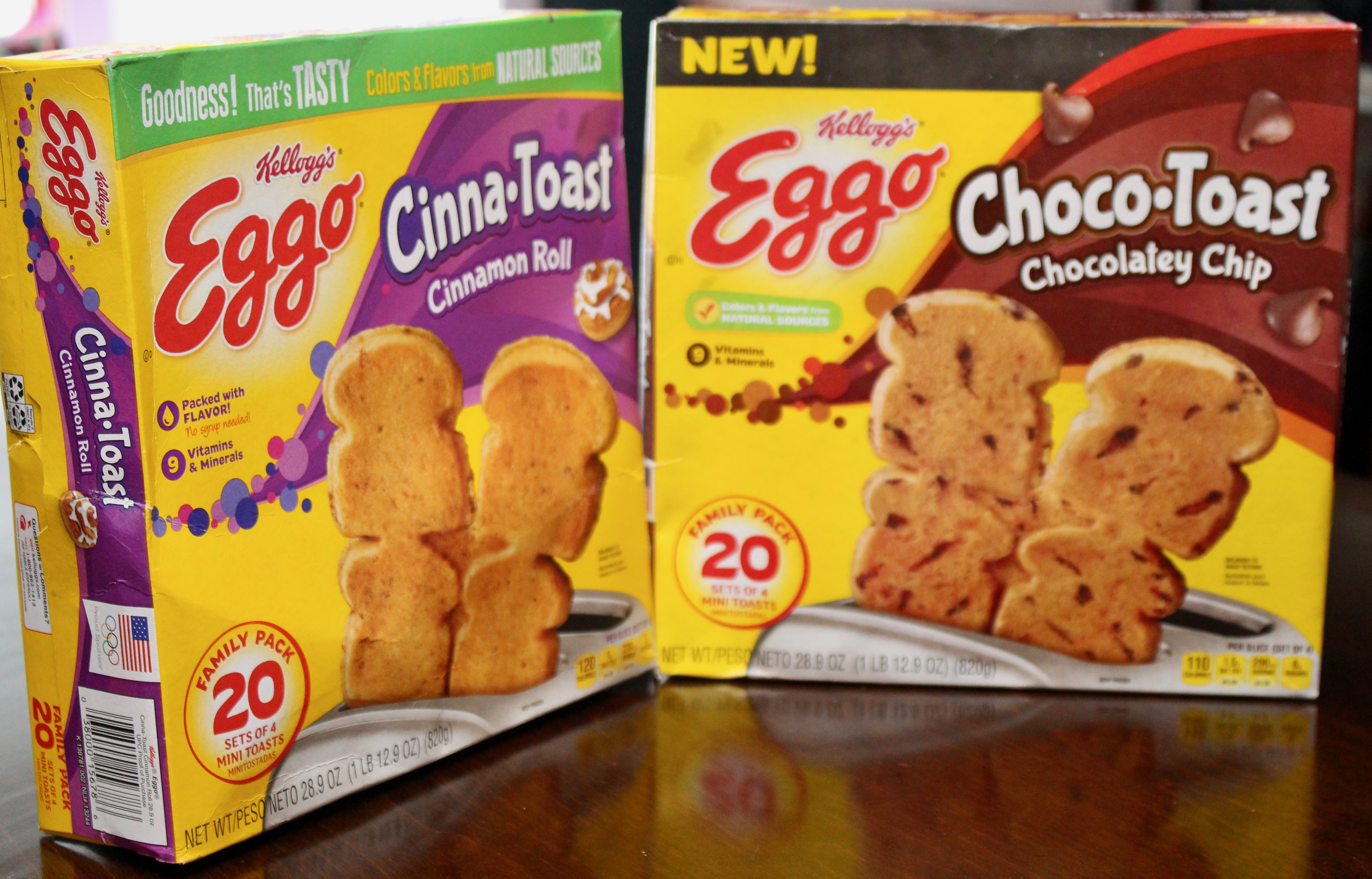 Eggo Cinna-Toast and Eggo Choco-Toast
