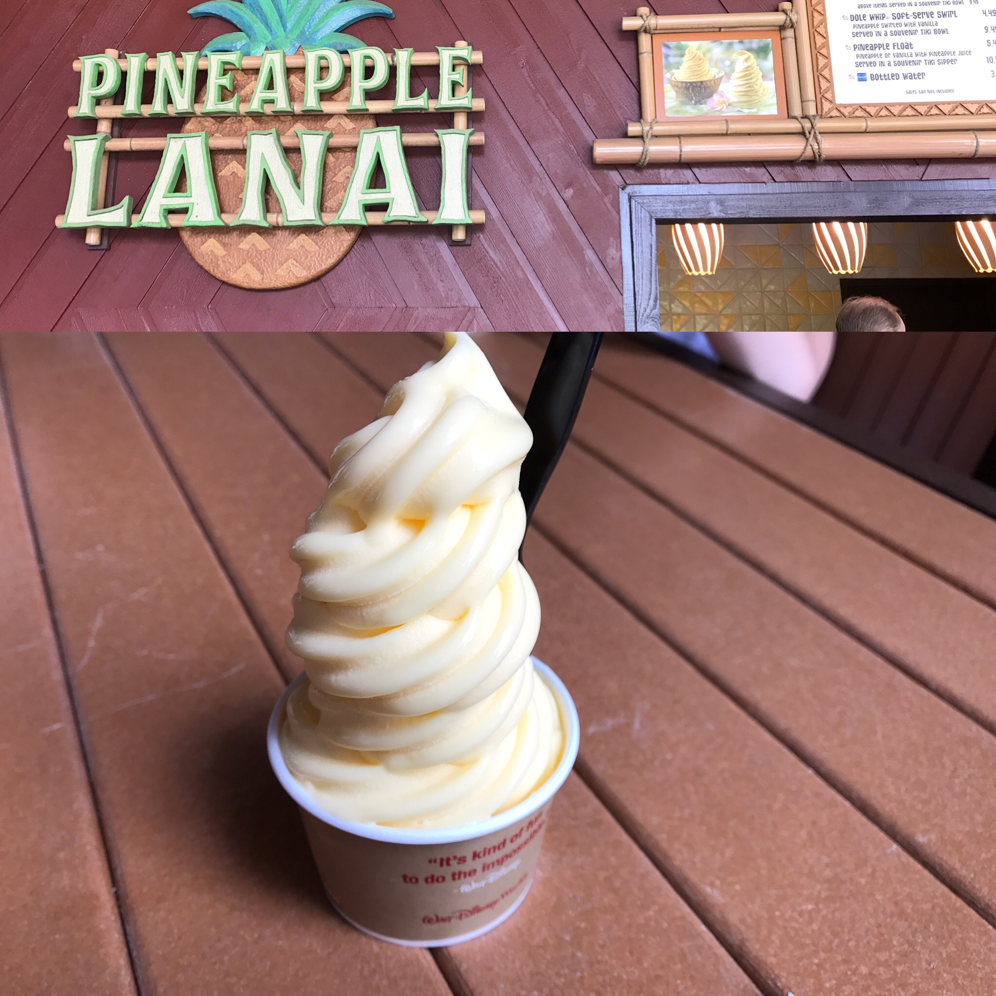 Pineapple Lanai at Disney Polynesian with Dole Whip