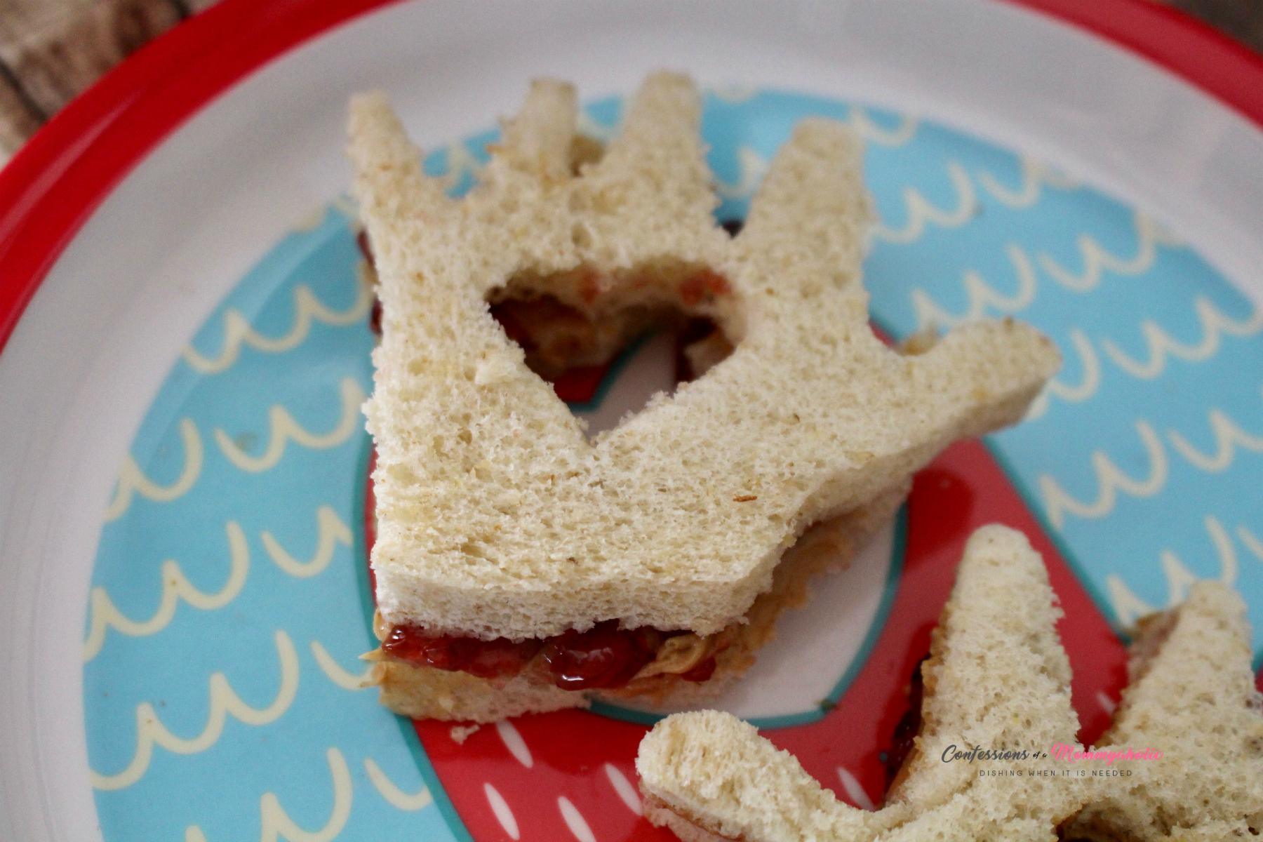 Closeup of Kissing Hand Sandwich
