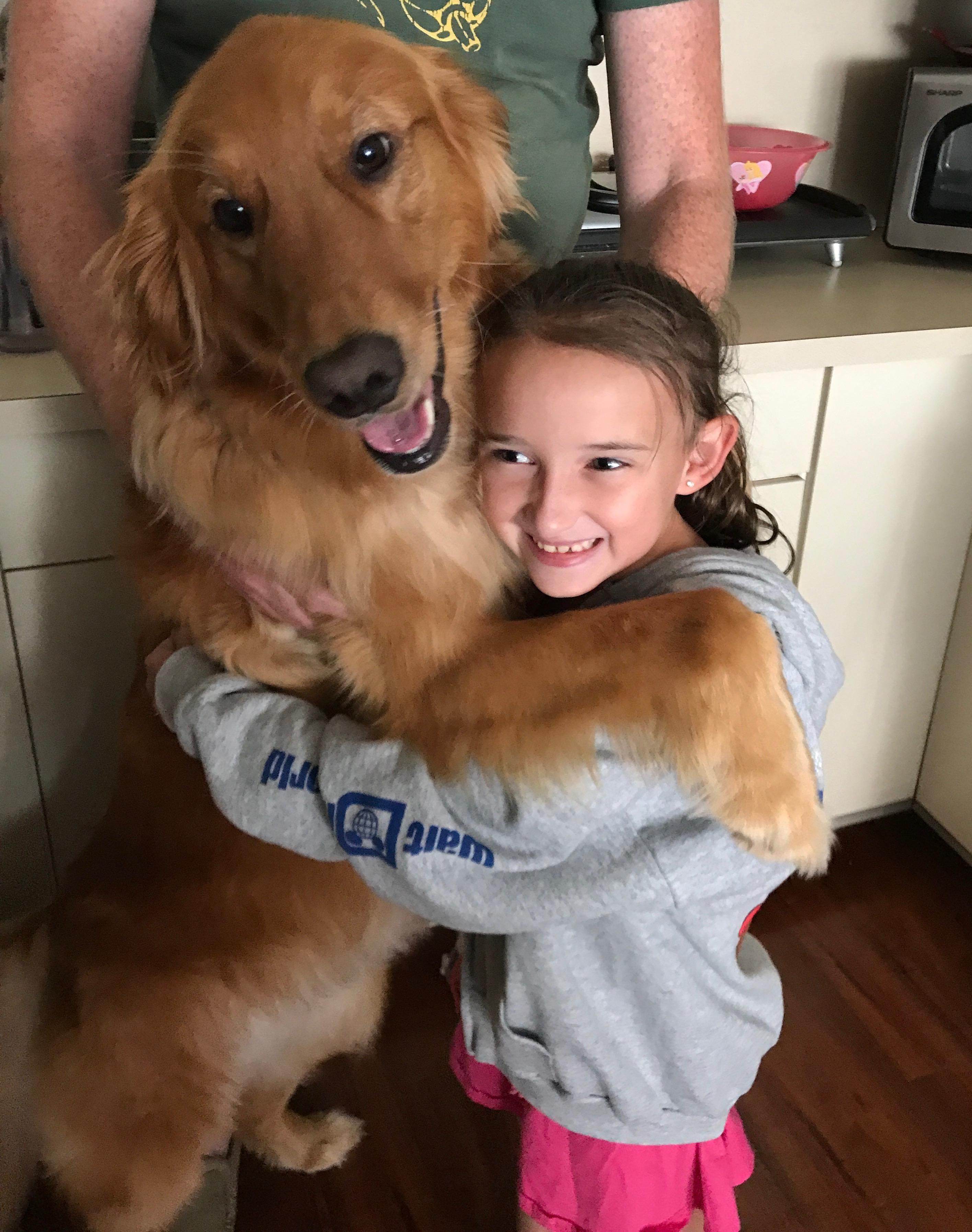 Emma and Elsa Hugging