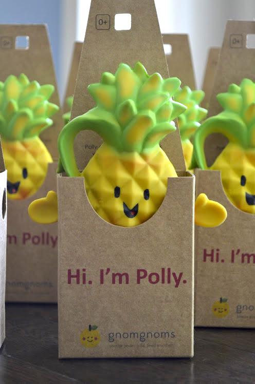 Polly Pineapple Teething Toy in Her Cute Packaging