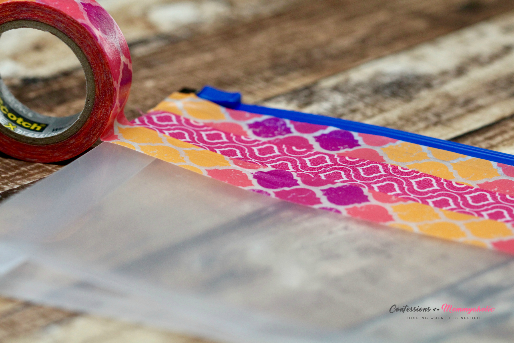 Taping Washi Tape Clutch for Moms on the Go Messes