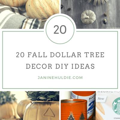 20 Fall Dollar Tree Decor DIY Ideas