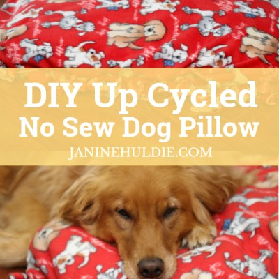 DIY Up Cycled No Sew Dog Pillow Long Pin
