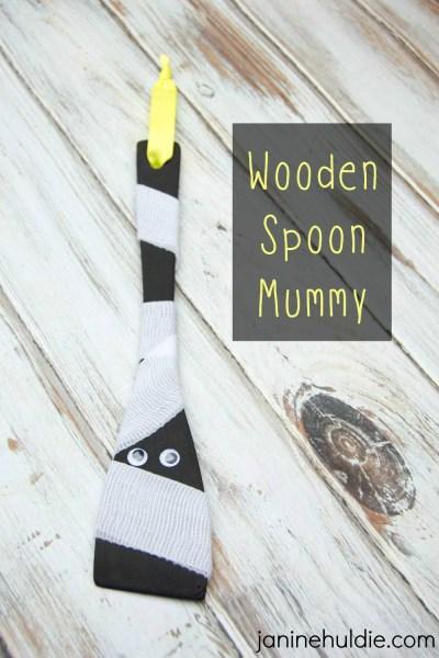 Easy Wooden Spoon Mummy Craft Dollar Tree Halloween