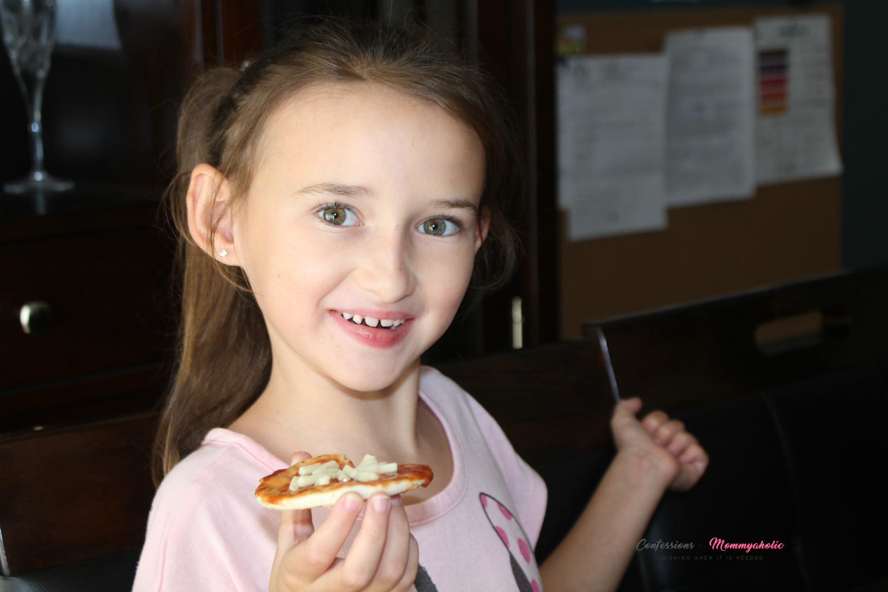 Happily Eating Pizza Lunchables