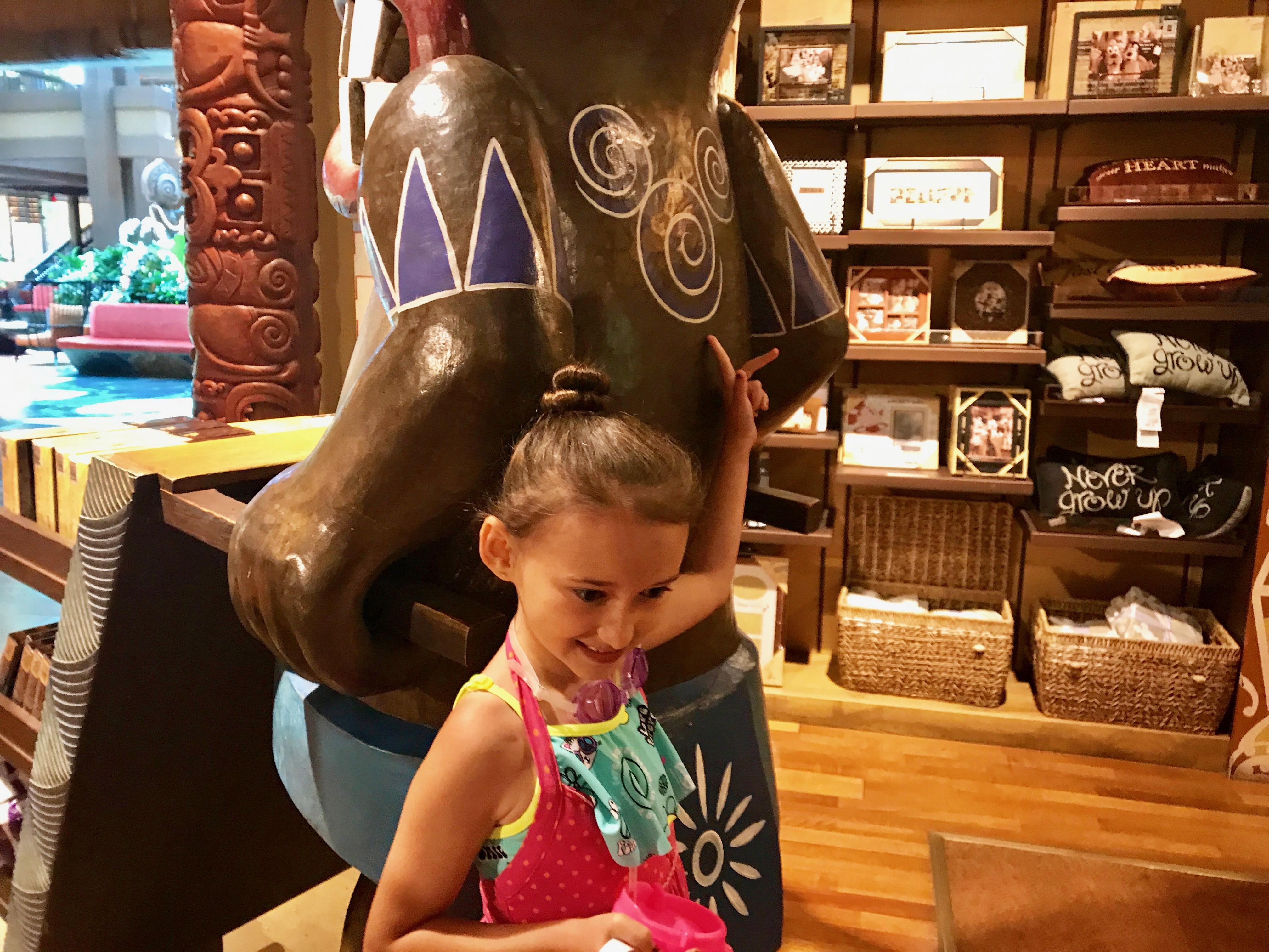 Hidden Mickey found in Walt Disney World's Polynesian Resort Gift Shop