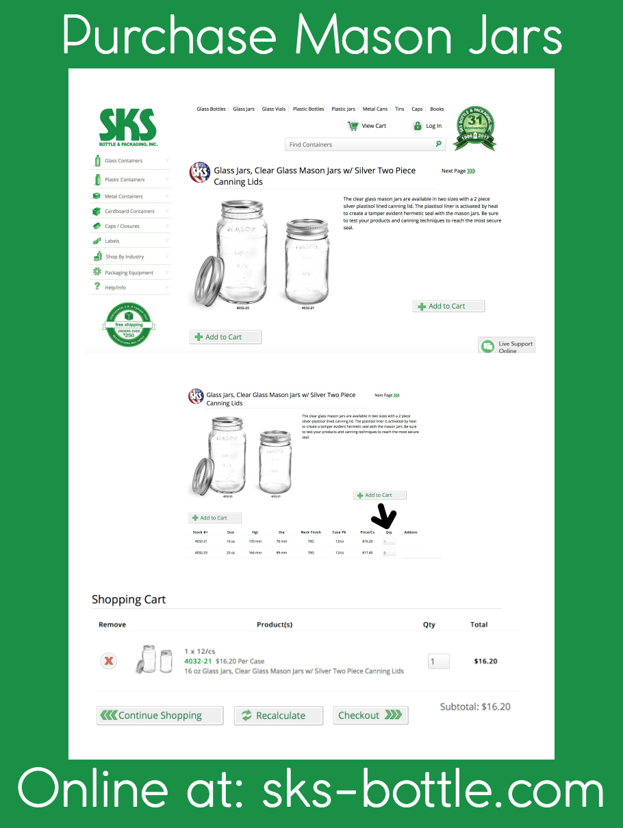 Purchase SKS Mason Jars Online Edited
