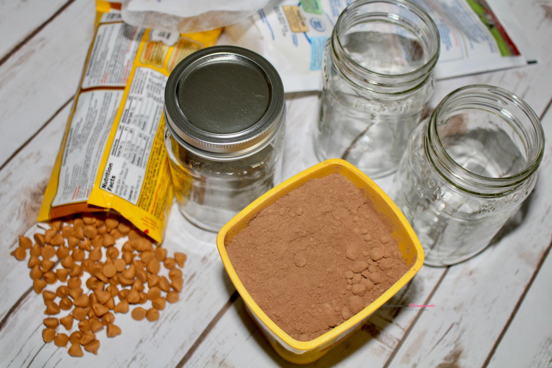 Supplies for Pumpkin Spice Hot Chocolate Mix
