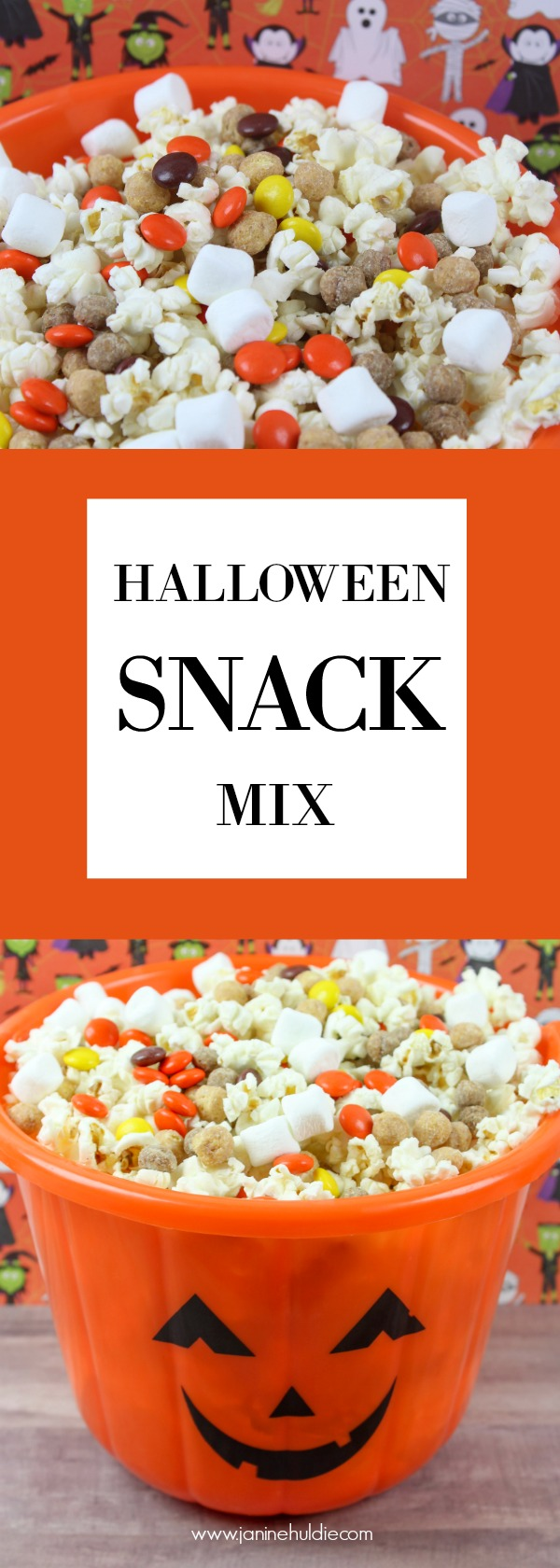 Halloween Snack Mix Long Pin
