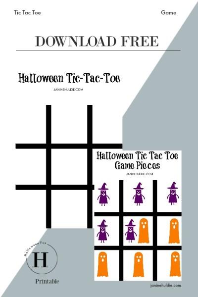 Halloween Game Tic Tac Toe Pinterest