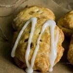 Vertical Closeup of Handheld Apple Pies Recipe
