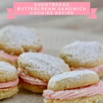 Peppermint Buttercream Shortbread Sandwich Cookie Recipe