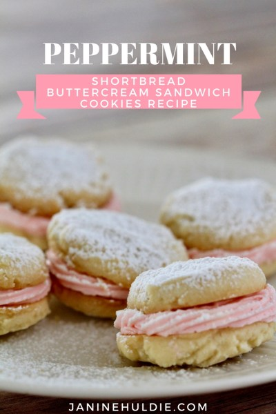 Peppermint Buttercream Shortbread Sandwich Cookies Recipe