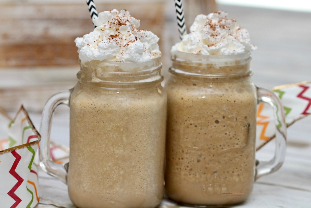 Two Eggnog Frappes