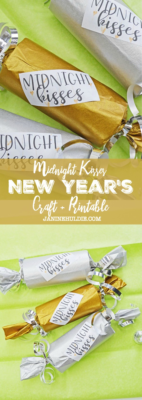 Midnight Kisses New Year's Eve Craft and Printable