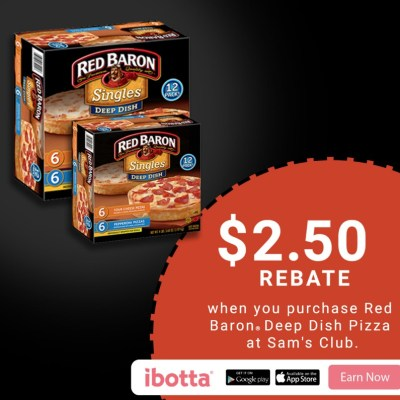 Red Baron Deep Dish Single Serve Sam's Club Promo