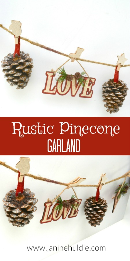 Rustic Pinecones Garland