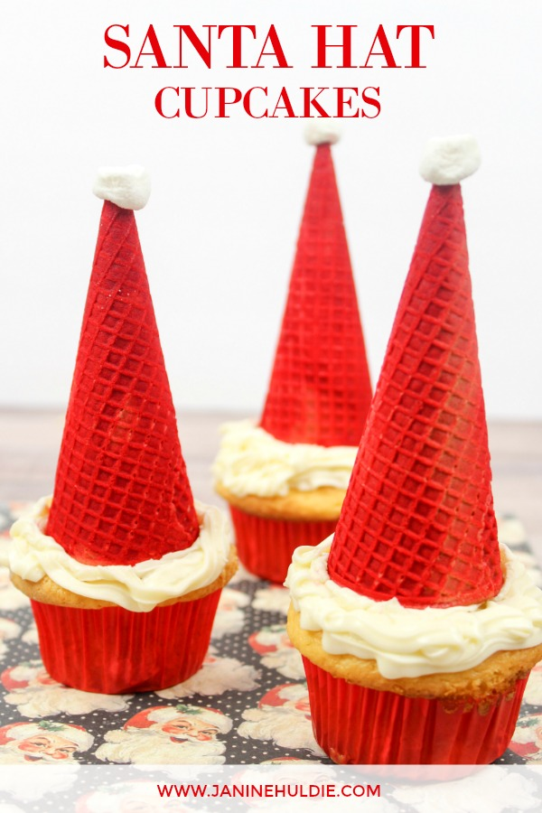 Santa Hat Cupcakes, This Mom's Confessions