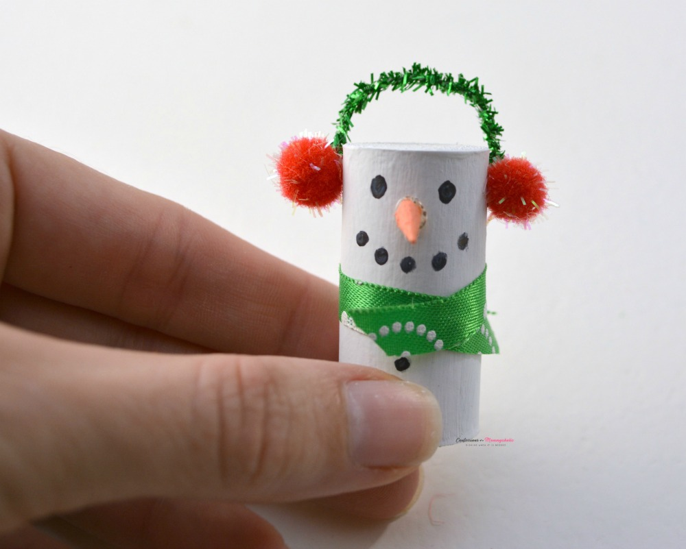 Step 6 for Wine Cork Snowman Ornament