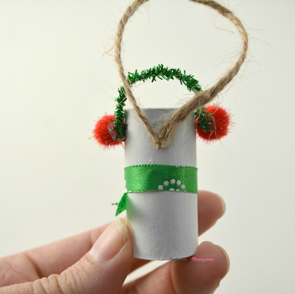 Step 7 for Wine Cork Snowman Ornament
