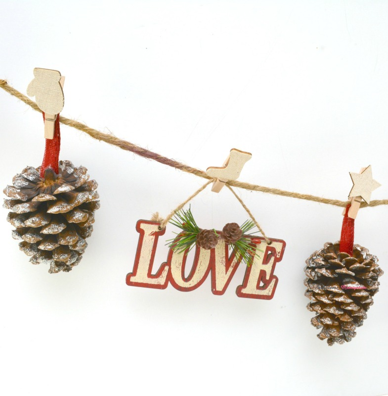 Supplies for Rustic Pinecone Garland 1