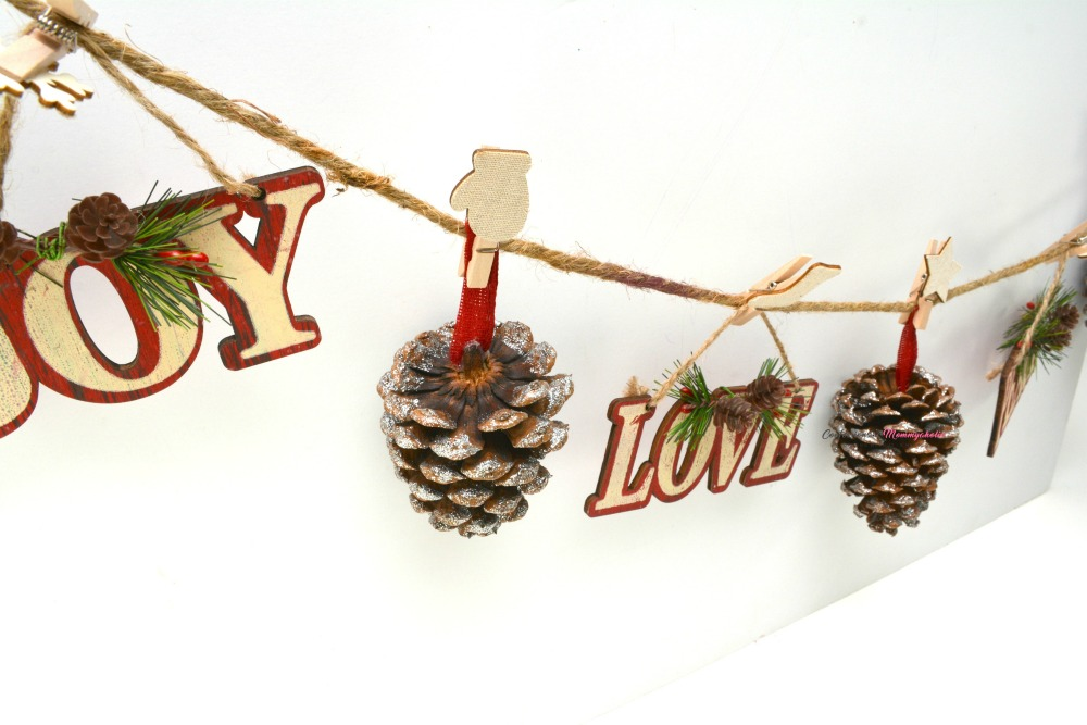 Supplies for Rustic Pinecone Garland 2