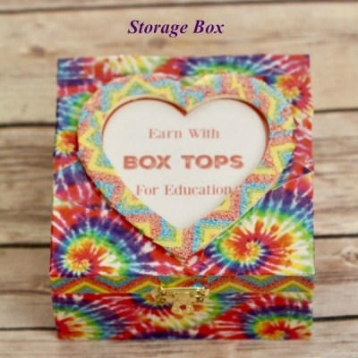 DIY Washi Tape Box Tops for Education Storage Box + FREE Printable