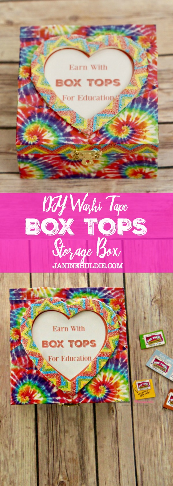 DIY Washi Tape Box Tops Storage Box