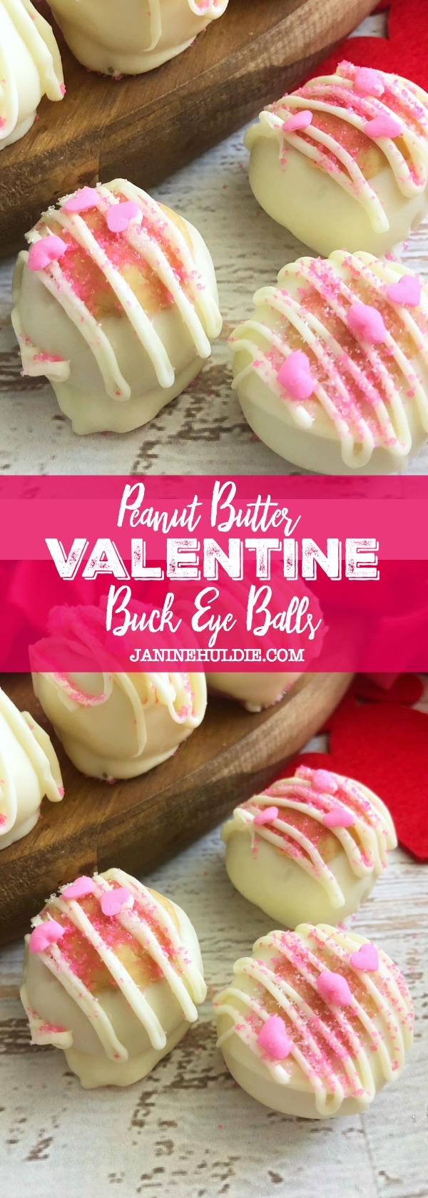 Peanut Butter Valentine Buck Eye Balls