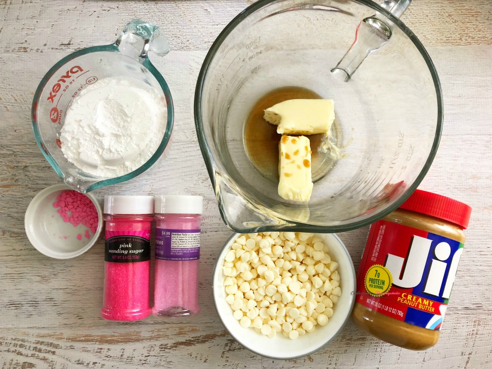 Supplies for Perfect Peanut Butter Valentine Buck Eyes Candy Recipe