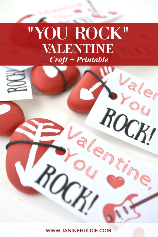 photo relating to You Rock Valentine Printable known as Simple and Enjoyment Your self Rock Valentine Small children Paintable Craft