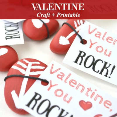 Easy and Fun You Rock Valentine Kids Paintable Craft