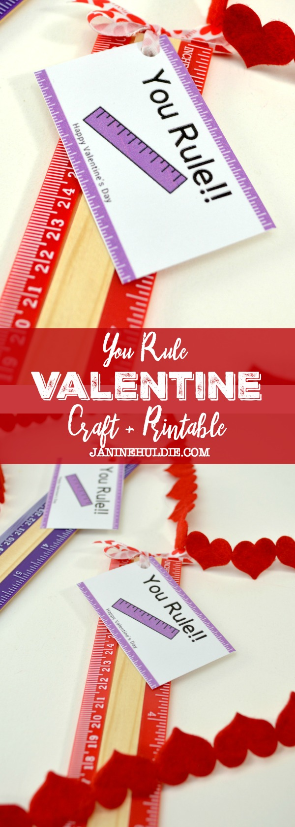 You Rule Valentine Craft and Printable