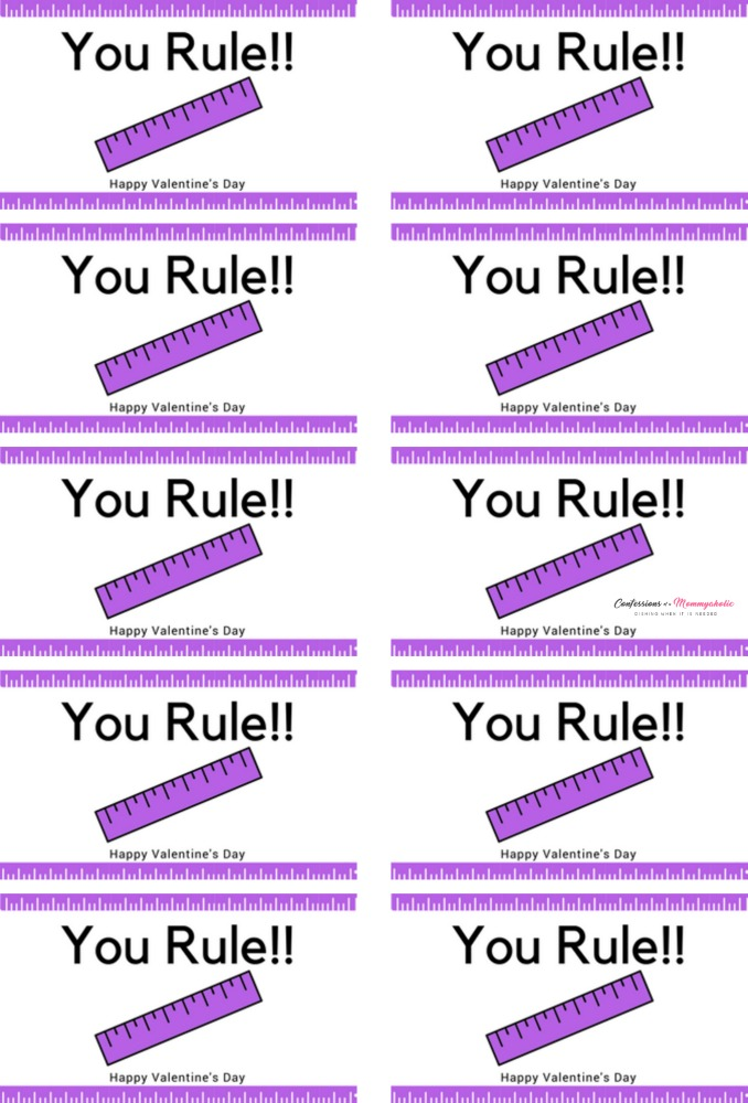 You Rule Valentine Printable