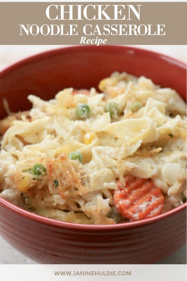 Chicken Noodle Casserole Recipe Featured Image