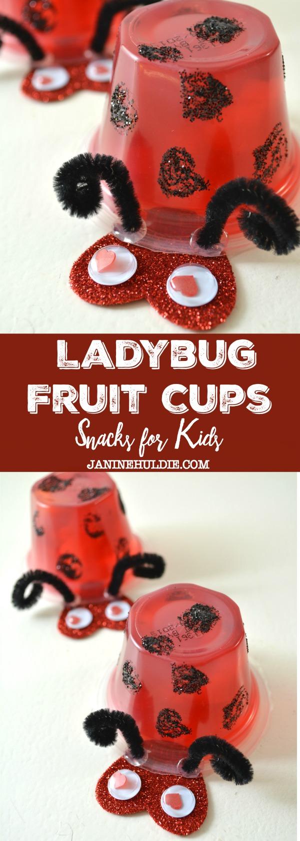 Ladybug Fruit Cup Snacks
