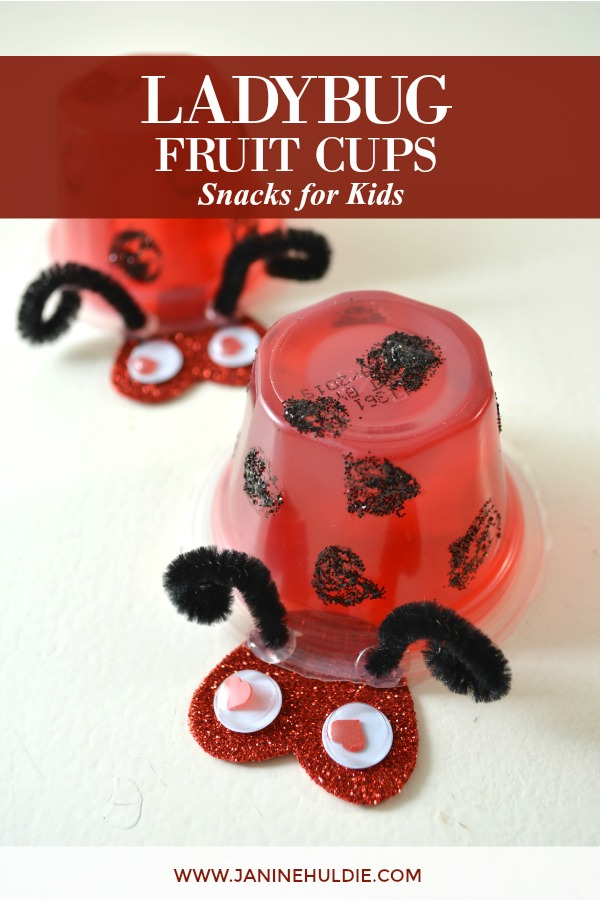 Ladybug Fruit Cups Snacks for Kids Featured Image
