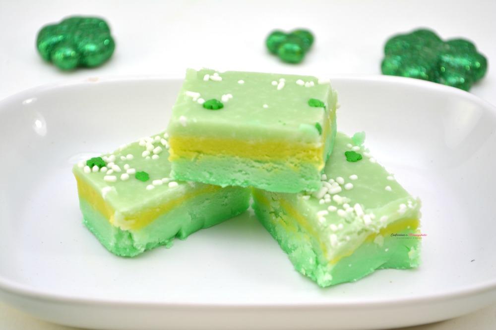 Leprechaun Fudge Dessert Recipe Horizontal