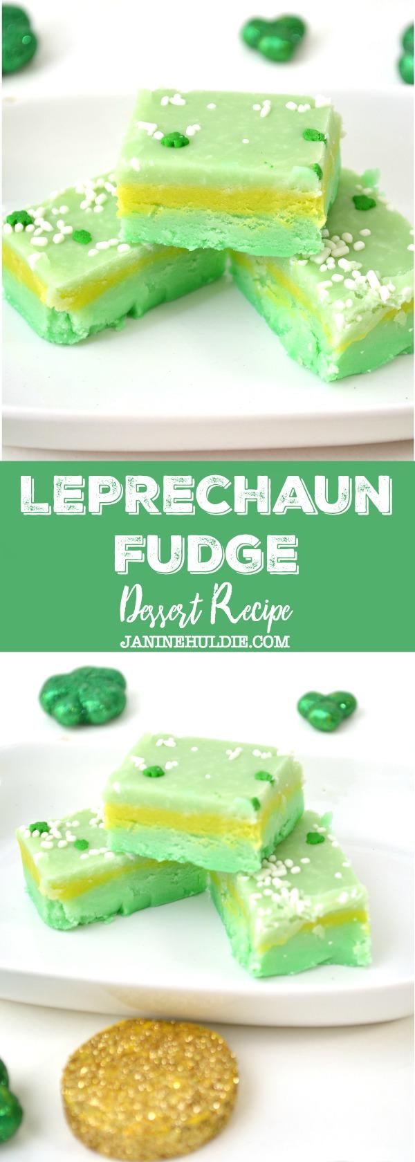 Leprechaun Fudge Dessert Recipe
